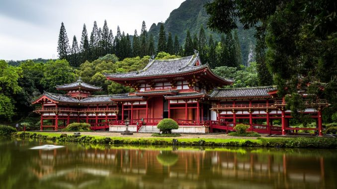 Red Japanese temple by cjoudrey (Unsplash.com)