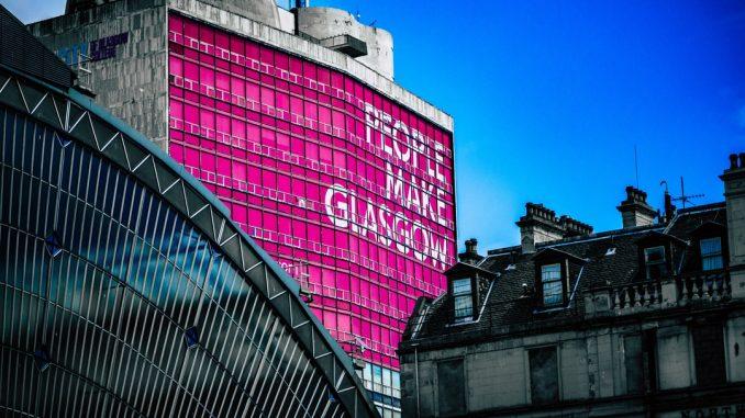 Photo taken above Glasgow Queen Street train station. https://kraft.photo by kraft (Unsplash.com)