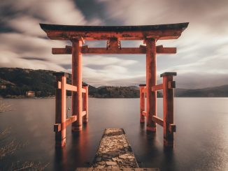 Beyond this gate God resides. Photo taken at Hakone, Japan. by tianshu (Unsplash.com)