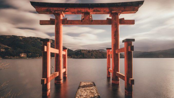 Beyond this gate God resides. Photo taken at Hakone, Japan. by tianshu (Unsplash.com)