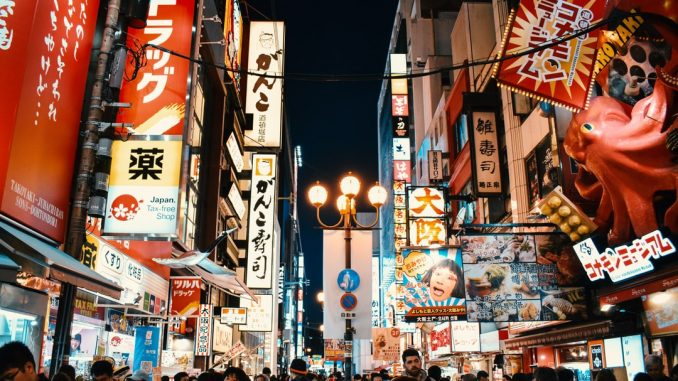 Dotonbori Street in Osaka, Japan by agathemarty (Unsplash.com)