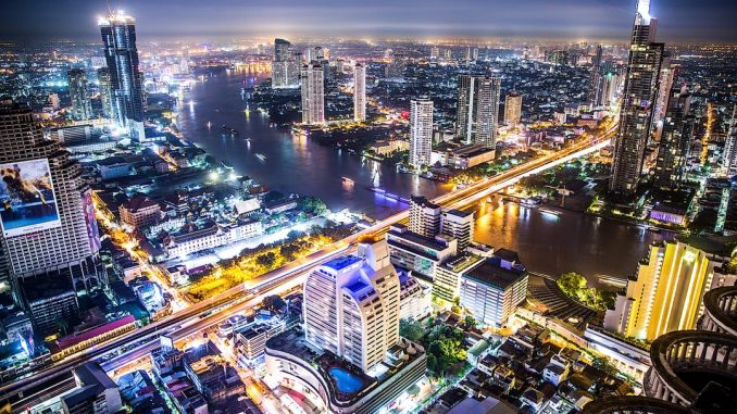 Picture of the Bangkok skyline shot from the location where they filmed The Hangover movie. by jarvisphoto (Unsplash.com)
